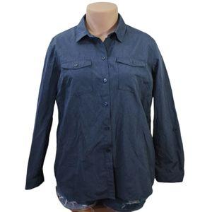 Eddie Bauer women's button down shirt size 2XL